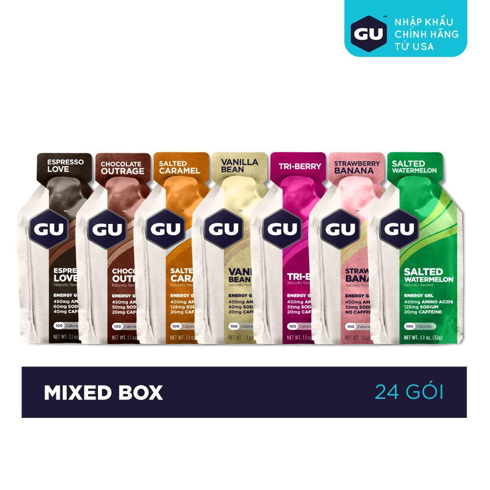 GEL NĂNG LƯỢNG GU ENERGY - MIXED BOX - HỘP 24 GÓI  (7 VỊ)