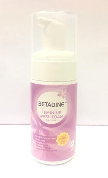 Bọt Vệ Sinh Phụ Nữ Hàng Ngày Betadine Gentle Protect Immortelle 100ml (Tím)