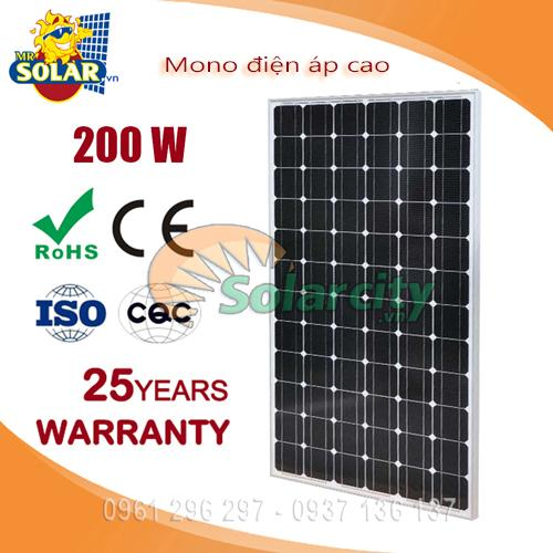 tấm pin năng lượng mặt trời 200w mono