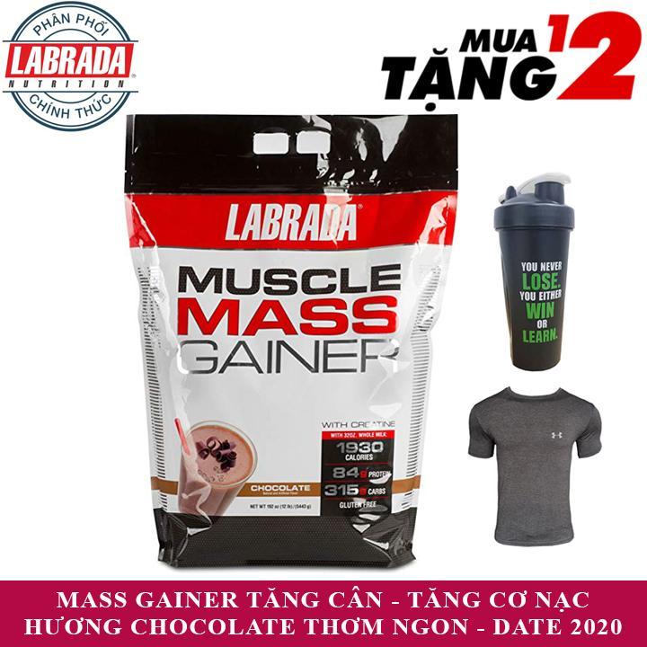 Hình ảnh Sữa tăng cân Muscle Mass Gainer của Labrada hương Chocolate bịch 5.4 kg - Phân phối chính thức
