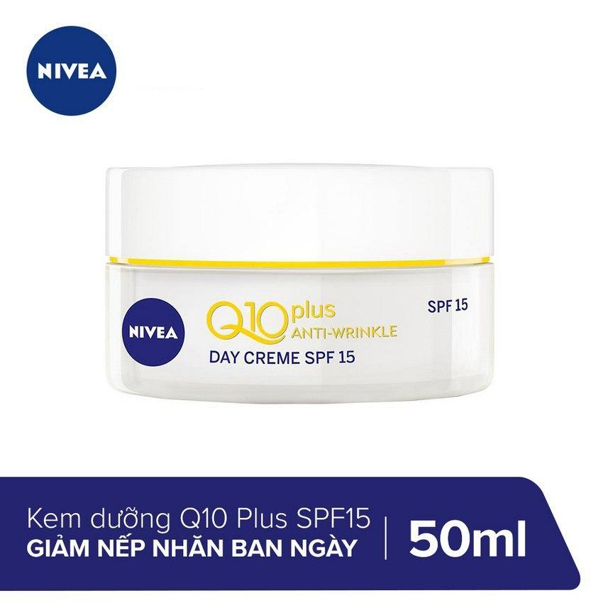 Kem Dưỡng Giảm Nếp Nhăn Ban Ngày Nivea Q10 Plus SPF15 50ml _ 86795 nhập khẩu