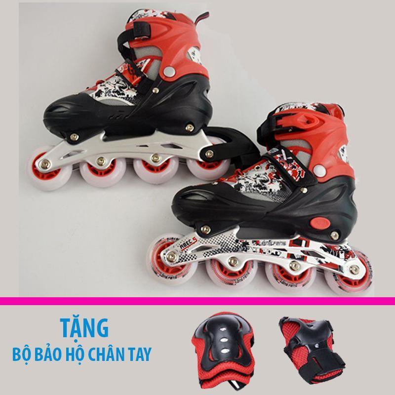 Phân phối Giày trượt patin trẻ em Longfeng 906 size M (Từ 7-10 tuổi) + Tặng bộ bảo hộ chân tay