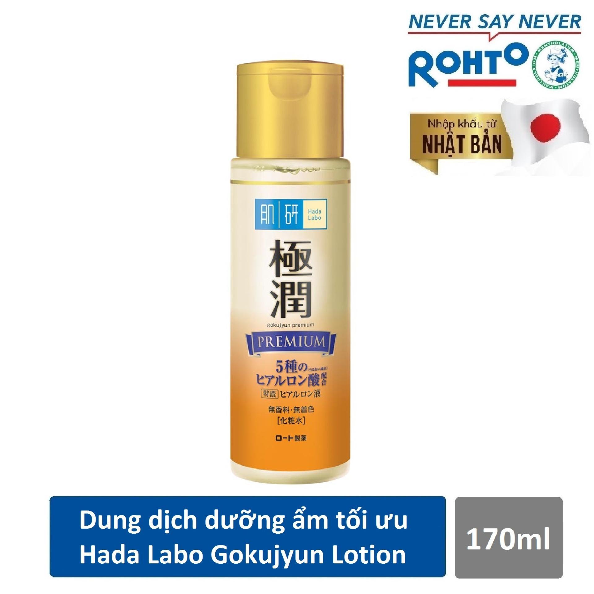 Dung dịch dưỡng ẩm tối ưu Hada Labo Gokujyun Premium Lotion 170ml ( Nhập khẩu từ Nhật Bản)
