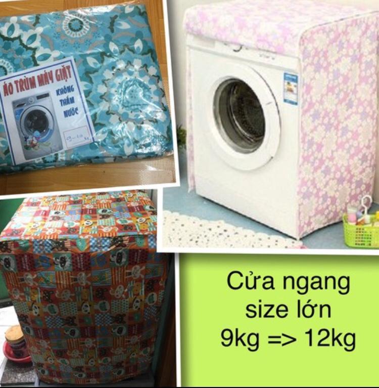 Áo trùm máy giặt - vải dù - cửa ngang - 9-11kg