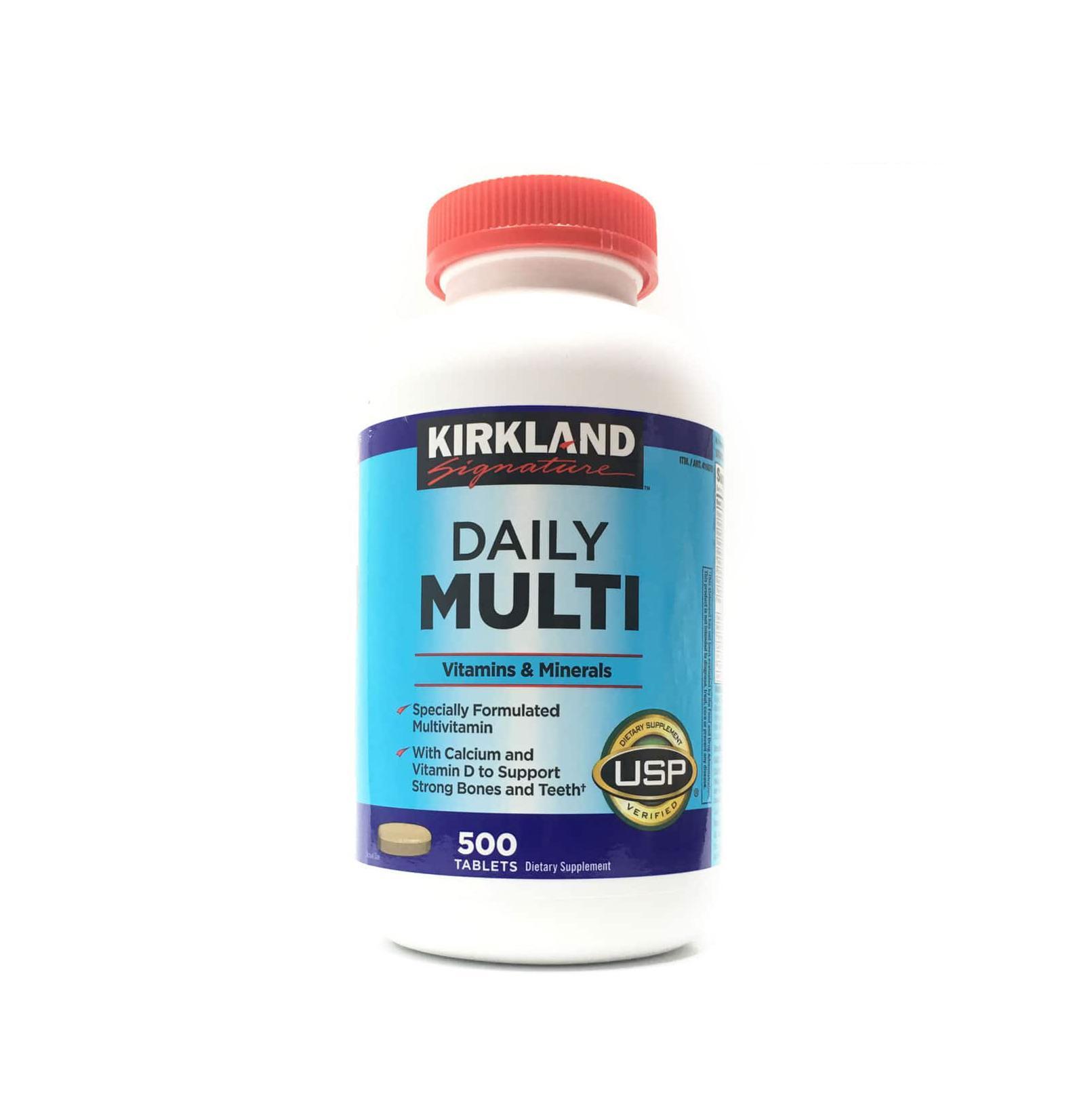 Vitamin Tổng Hợp Multivitamin Kirkland 500 Viên