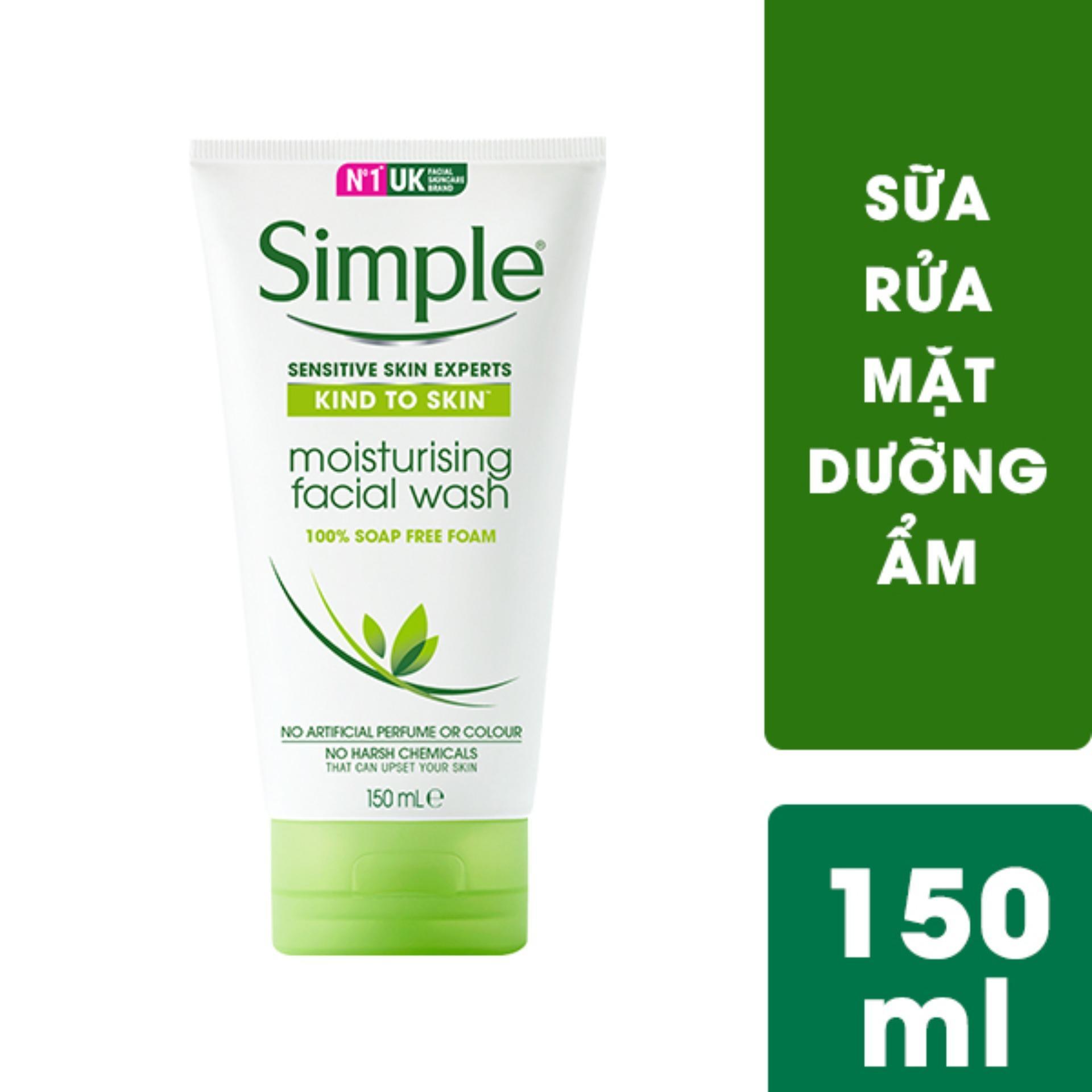 Sữa rửa mặt dưỡng ẩm dạng gel Simple Moisturising Facial Wash 150ml tốt nhất