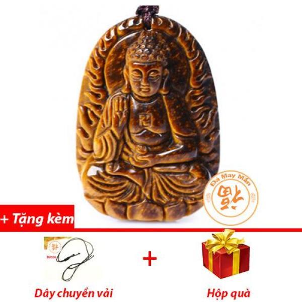 Mặt Dây Chuyền Phật Bản Mệnh A Di Đà Mắt Hổ Vàng Nhí