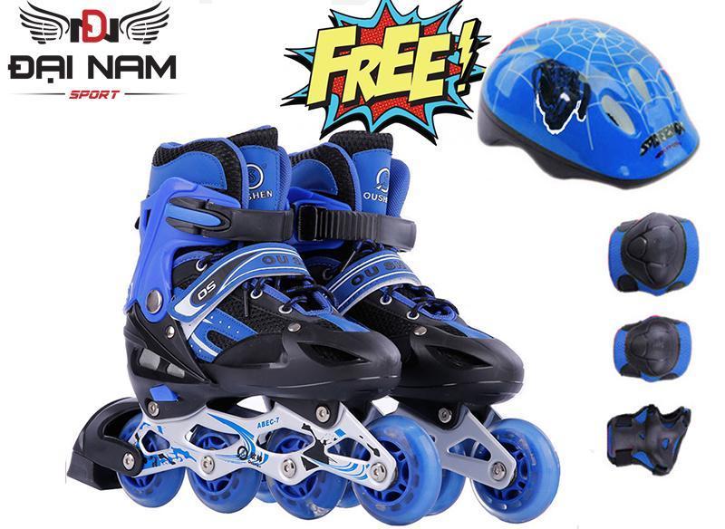 Mua Giày trượt patin trẻ em OS size L (Trên10 tuổi) + Tặng bộ bảo hộ