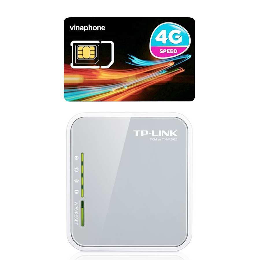 Hình ảnh Router không dây Di Động 3G/4G TP-LINK TL-MR3020 + Sim 4G Vinaphone | khuyến Mãi 60GB/Tháng