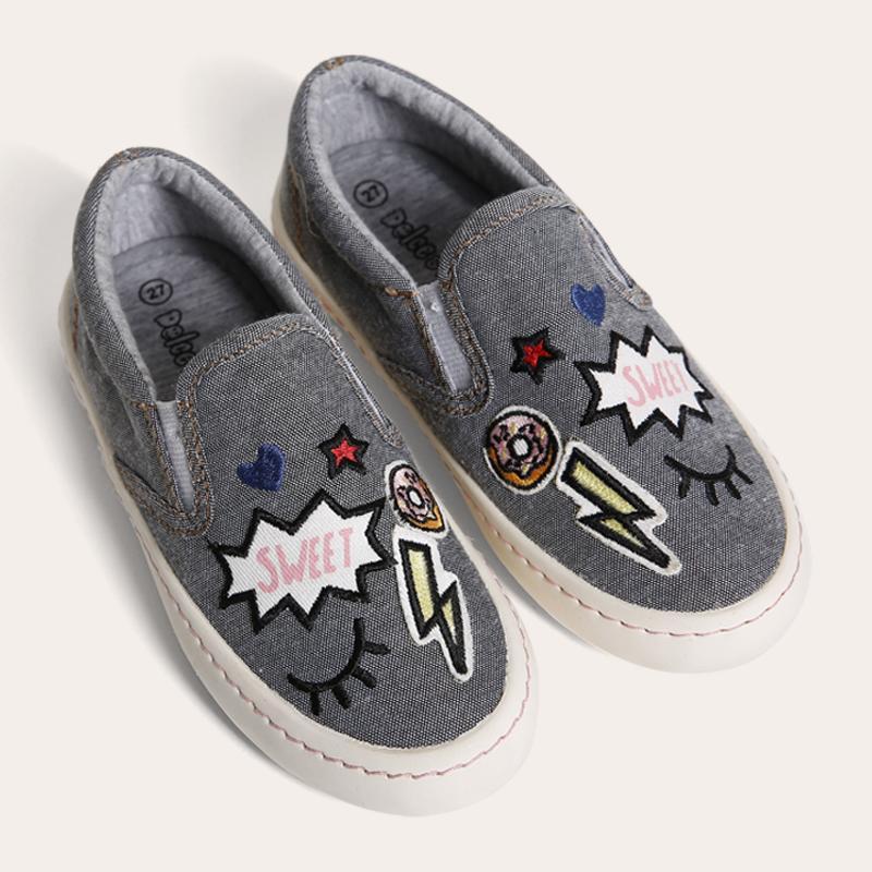 Giày Sneaker Bé gái thời trang D&A BG1602 ghi