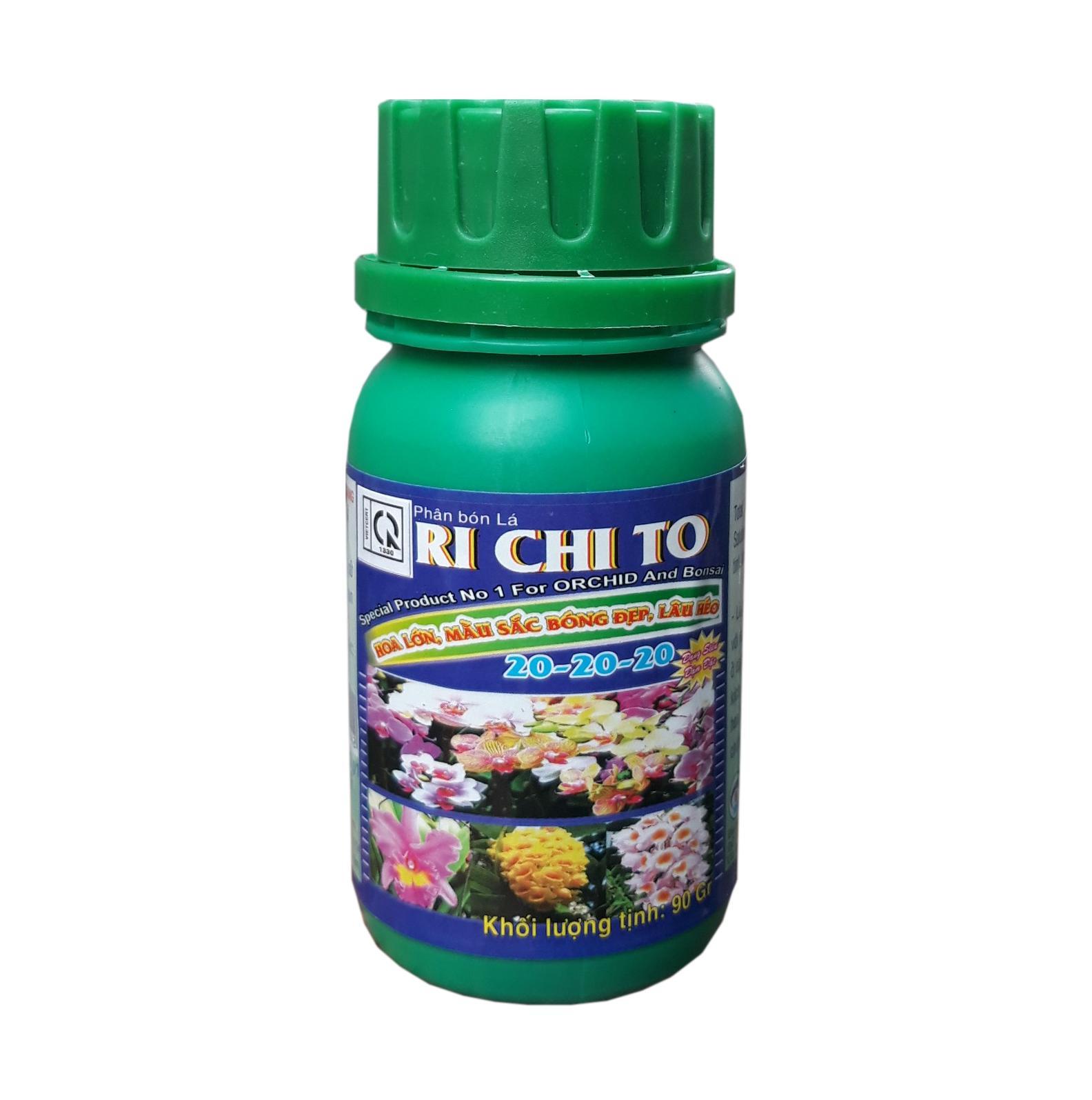 Hình ảnh Phân bón lá Richito 20-20-20 chuyên phong lan (90g/hủ)