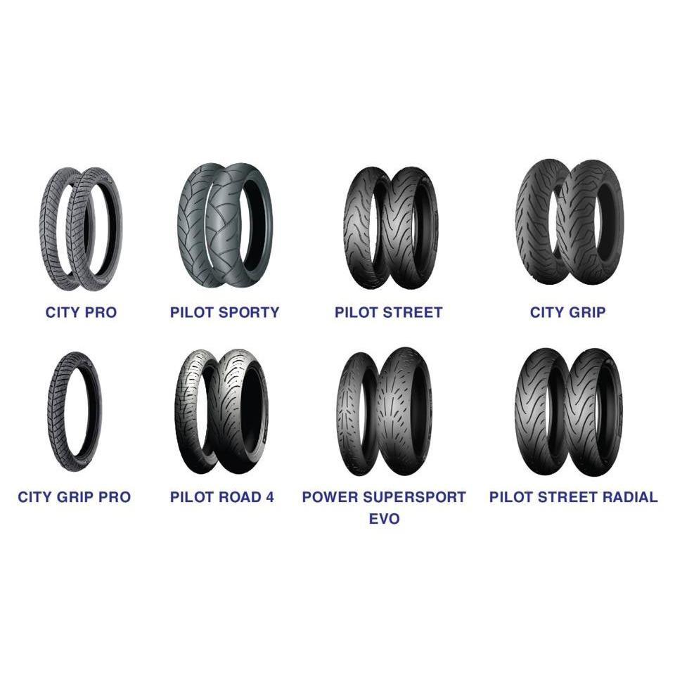 Vỏ Michelin đầy đủ Size cho các dòng xe máy