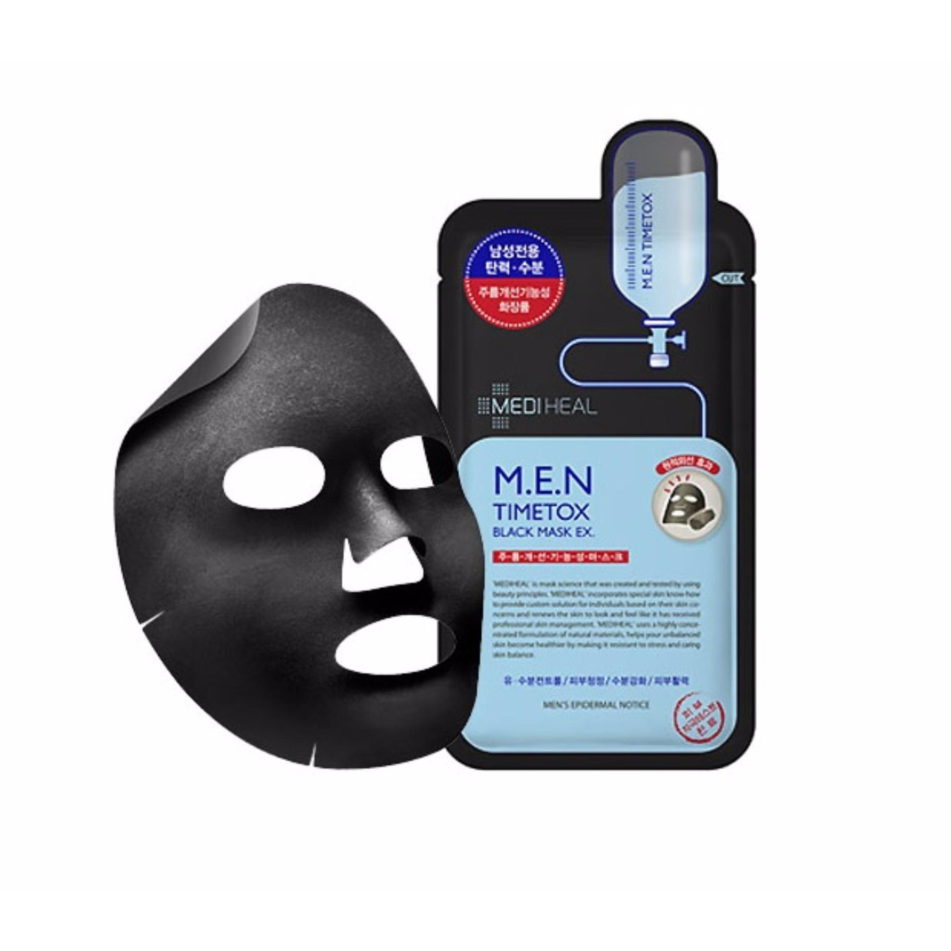 Mặt nạ than hoạt tính làm sạch sâu dưỡng da căng mịn dành cho nam Mediheal M.E.N Timetox Black Mask Ex 25ml