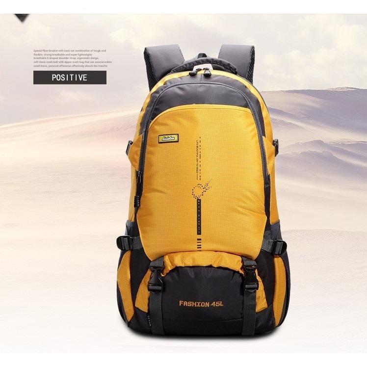Hình ảnh Balo du lịch leo núi đi phượt 45L,siêu bền nhẹ , rổng rãi Fashion ( yellow)