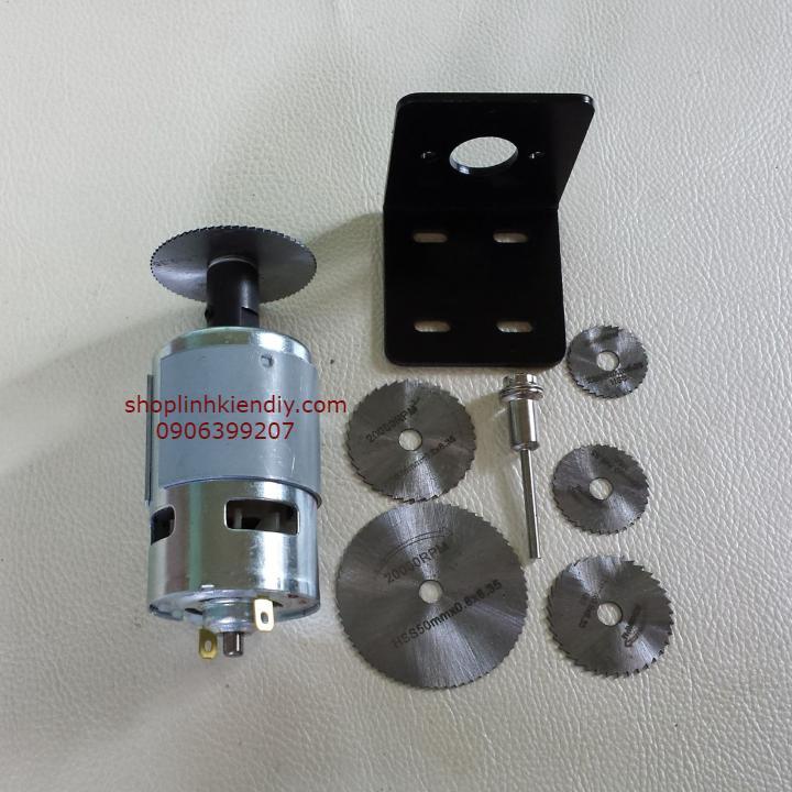 máy cắt mini với motor 775 150w 2 bạc đạn
