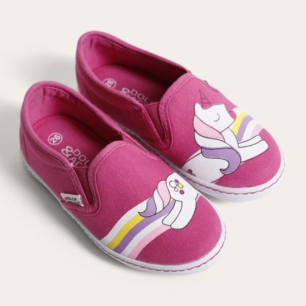 Giày Sneaker Bé gái thời trang D&A BG1704 hồng giá rẻ