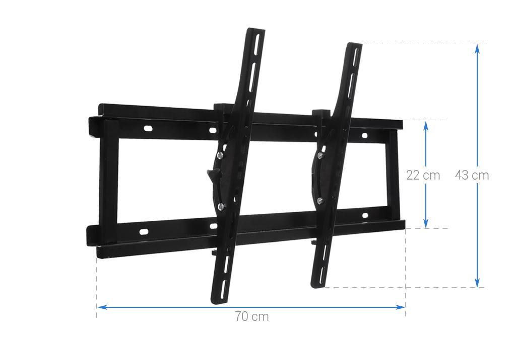 Hình ảnh Khung treo cao cấp Tivi LCD-LED-PLASMA nghiêng cao cấp N6.4 37 - 63 inch (Đen ) - Huy Tưởng ( Có clip hướng dẫn lắp đặt )