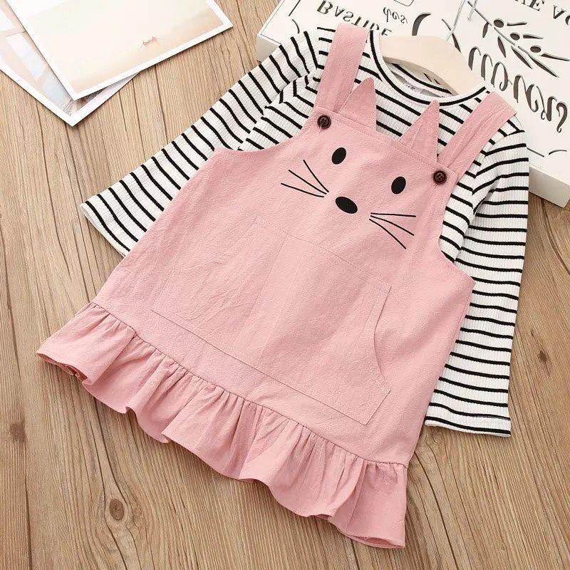 Giá bán Váy yếm cực đáng yêu cho bé từ 1-6 tuổi ( cả áo và yếm)