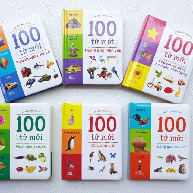 Mua Sách - Combo bé học tiếng việt - 100 từ mới dành cho bé ( 6 cuốn )