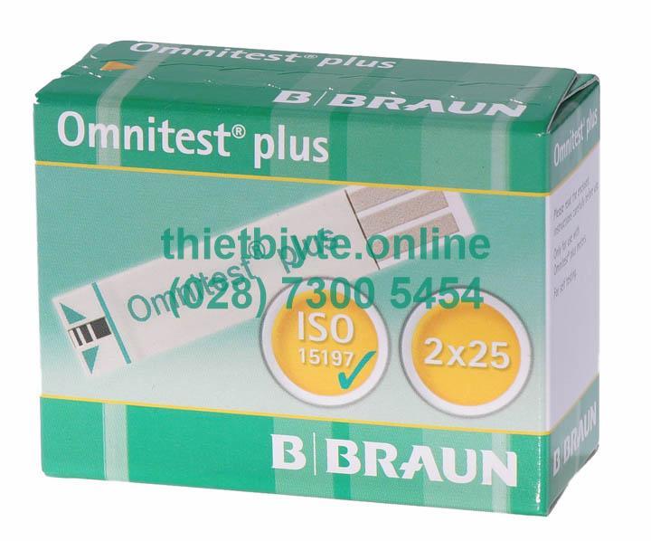 Que thử đường huyết B.Braun Omnitest Plus (hộp 50 que) bán chạy