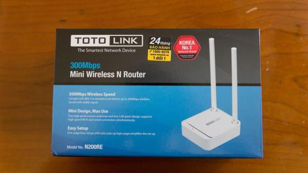Bảng giá Bộ phát Wifi 300Mbps ToToLink N200RE-V3 1000001360 Phong Vũ
