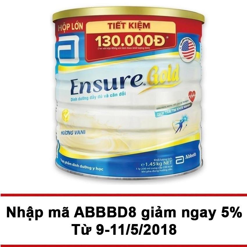 Bán Lon Sữa Bột Ensure Gold Hương Vani 1 45Kg Ensure Trực Tuyến