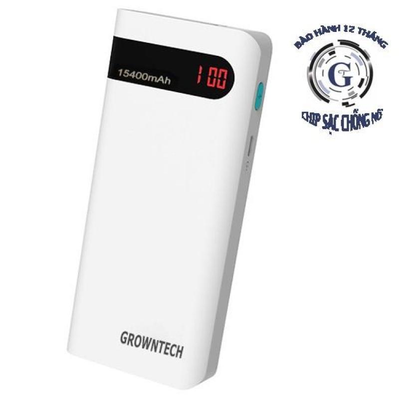Giá Pin Sạc Dự Phòng Cao Cấp Grown Tech 15400mAh - Có Màn Hình LCD