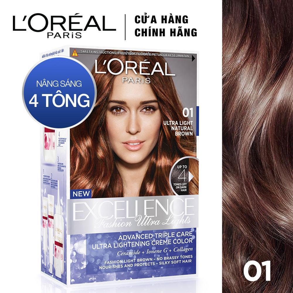 Thuốc nhuộm tóc nâng sáng LOreal Paris Exc Fashion Ultra Light nâu đỏ