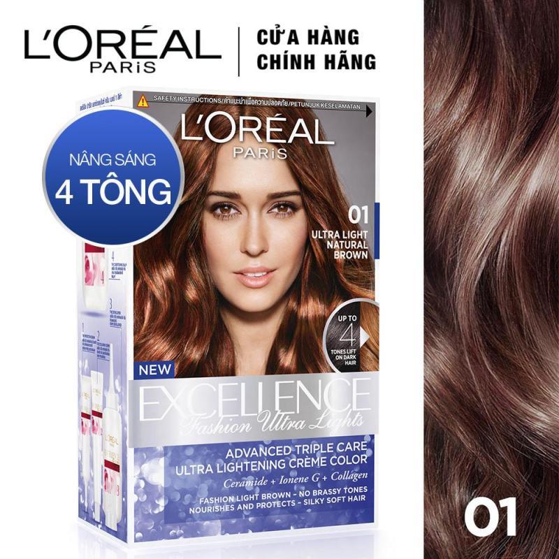 Thuốc nhuộm tóc nâng sáng LOreal Paris Exc Fashion Ultra Light nâu đỏ cao cấp