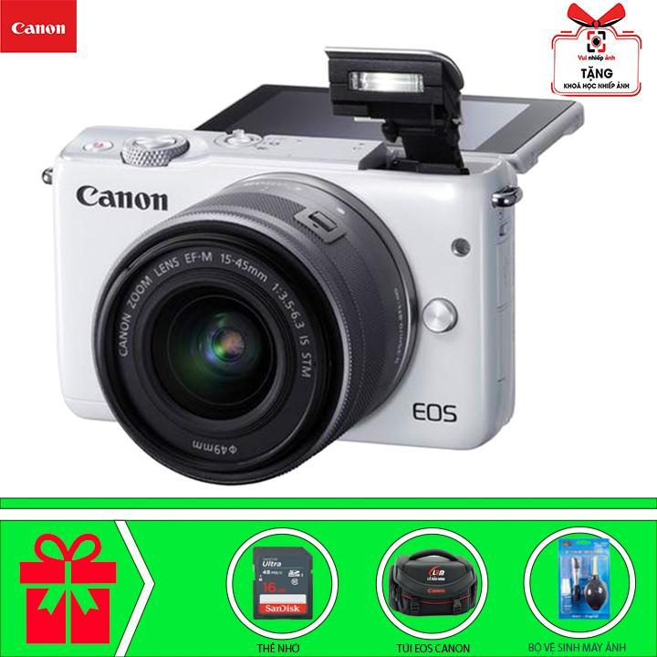 Giá Quá Tốt Để Mua Canon EOS M10 Với Lens Kit EF-M 15-45m (Trắng) Chính Hãng Canon Lê Bảo Minh