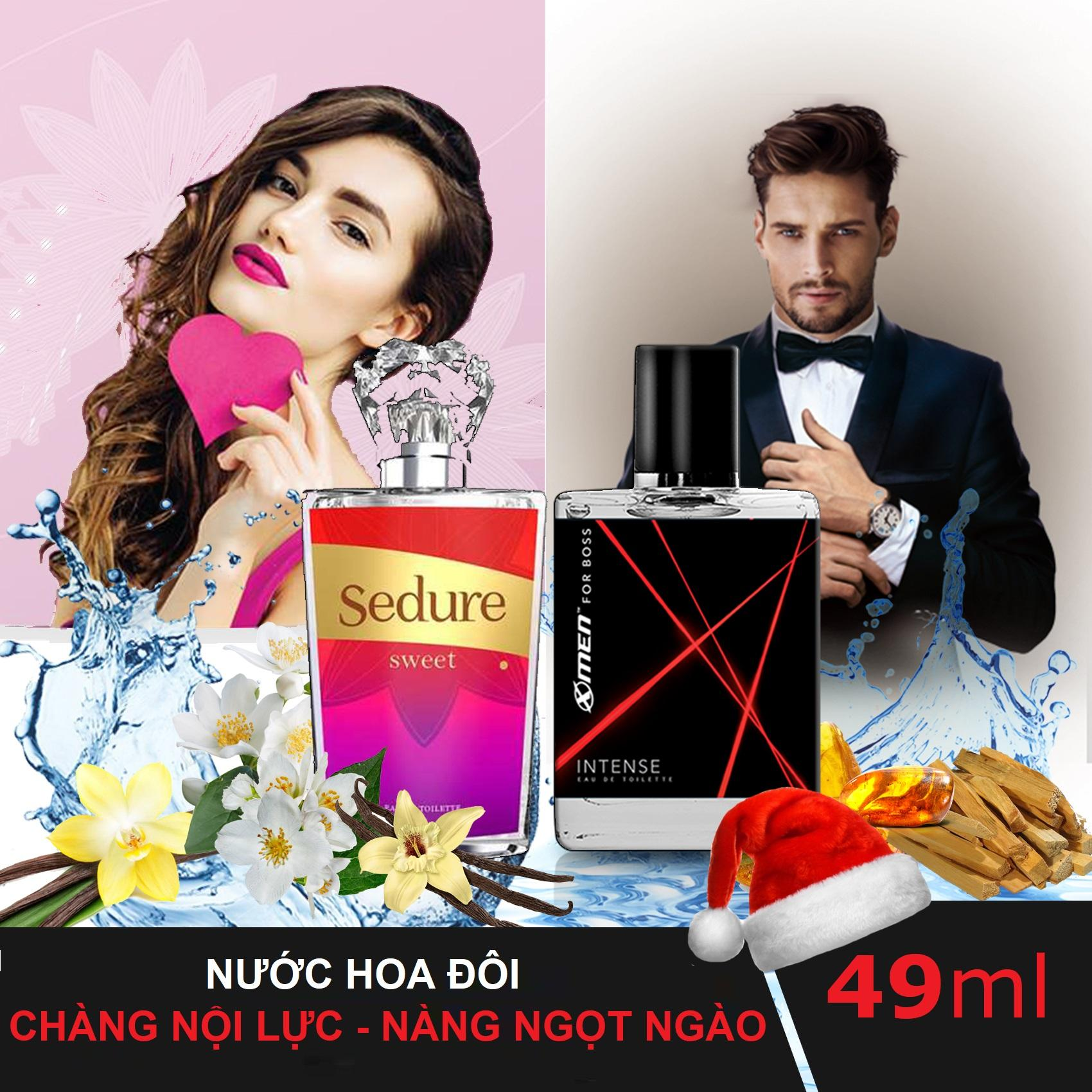Nước hoa đôi chào Noel 2018: Nước hoa Xmen for Boss Intense + Nước hoa Sedure Sweet - Cặp Đôi Thần Thái