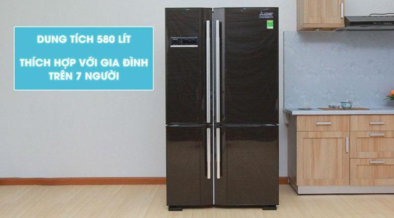 Tủ Lạnh Mitsubishi MR-L72EH-BRW-V side by side 580L
