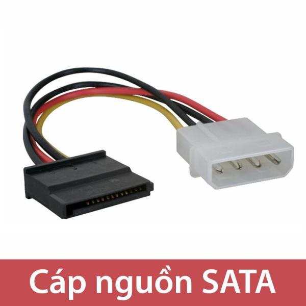 Cáp nguồn SATA 1 Molex IDE 4PIN đầu dương ra 1 SATA 15 pin đầu âm (20Cm)