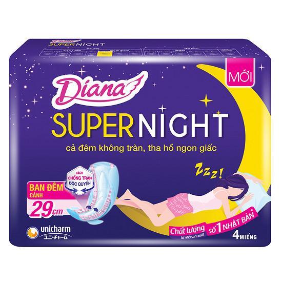 Block 6 BVS Diana Super Night Có Cánh 29Cm( 4 Miếng)