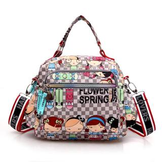 Túi đeo chéo harajuku họa tiết đặc sắc, chống thấm nước, chứa được nhiều đồ dùng - INTL thumbnail
