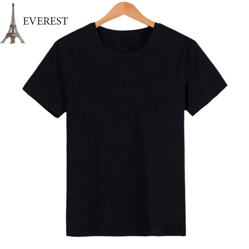 Hình ảnh Áo thun trơn nam form rộng phong cách hàn quốc vải dày mịn Everest E3 (Đen) Thời Trang Everest
