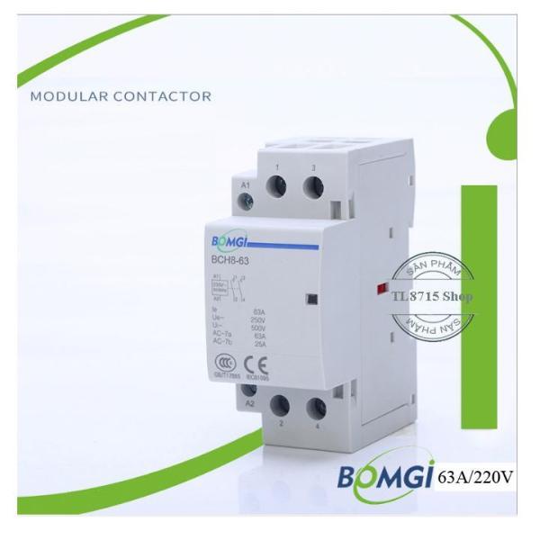 Khởi động từ Contactor 63A-220V mini lắp ray cài Aptomat
