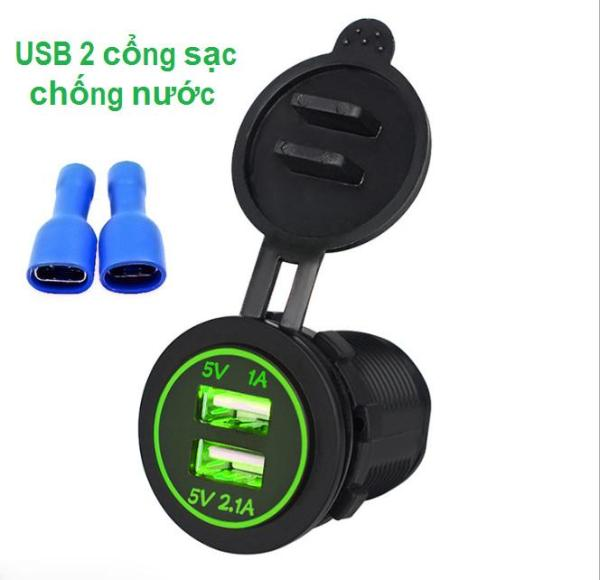[HCM]Tẩu sạc nhanh điện thoại dùng cho xe máy ô tô - Hàng nhập cao cấp