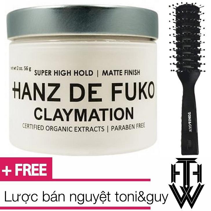 Sáp vuốt tóc nam Hanz de fuko Claymation 56g - mỹ + tặng lược bán nguyệt toni&guy