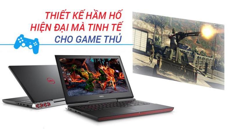 Laptop Khủng Game-Dell Gaming 7567 Core i7-7700HQ/Ram 8G/HDD 1TB/Nvidia GTX1050TI 4G/15.6 Full HD /