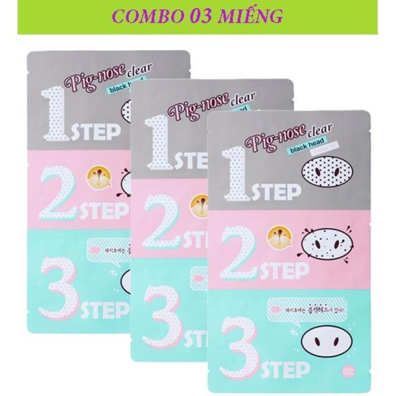 COMBO 3 Mặt Nạ Lột Mụn Đầu Đen 3 Bước Holika Holika Pig Nose Clear Black Head 3-Step Kit - 30ml nhập khẩu