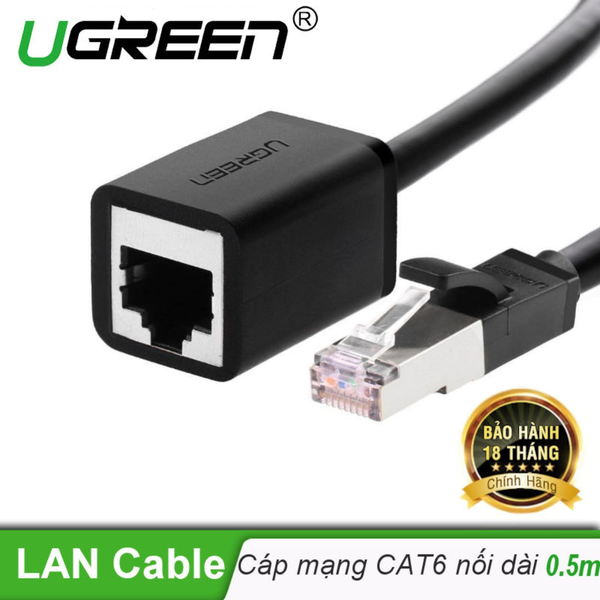 Dây cáp mạng nối dài CAT6 UTP RJ45 dài 0.5M UGREEN NW112 11278 - Hãng phân phối chính thức Nhật Bản