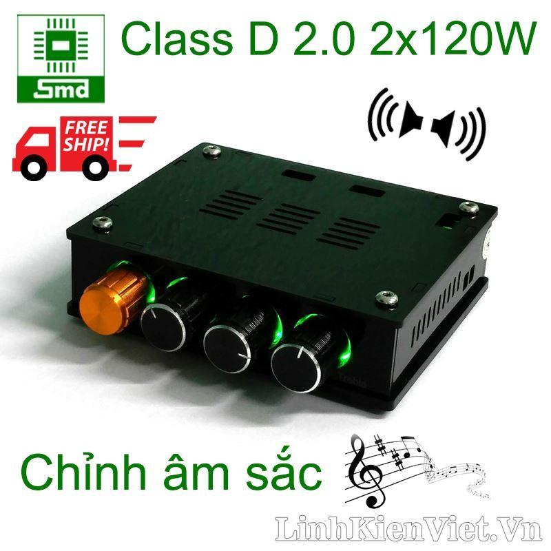 Mạch Khuếch Đại Am Thanh Classd 2 2X120W Co Chỉnh Am Sắc Trong Hà Nội