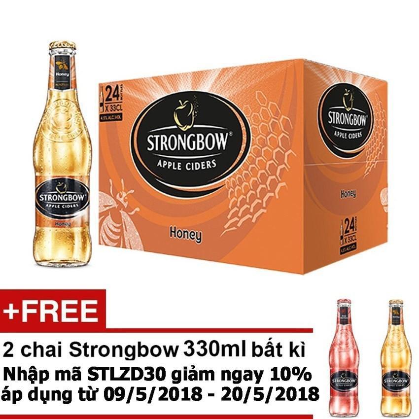 Thung 24 Chai Strongbow Honey Vị Mật Ong 330Ml Tặng 2 Chai Strongbow 330Ml Bất Ki Vietnam Chiết Khấu 50