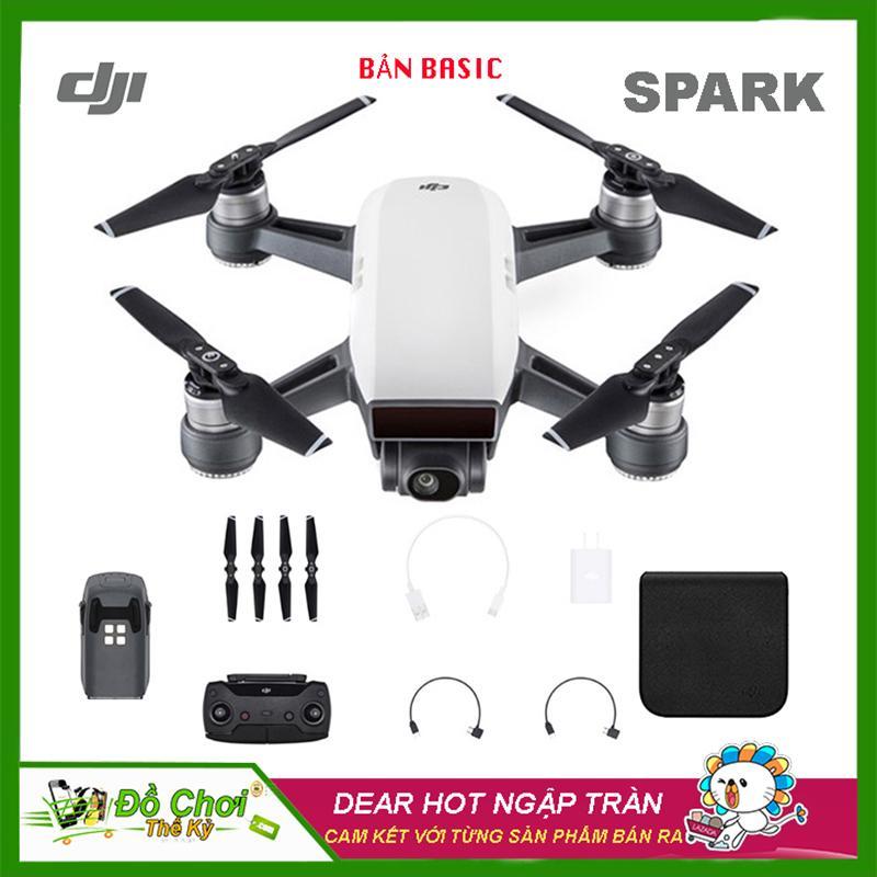 Máy bay Flycam DJI Spark bay 2KM, Camera 12Mpa, thời gian bay 15 Phút, có  cảm biến vật cản cùng Gimbal trống rung 2 chục