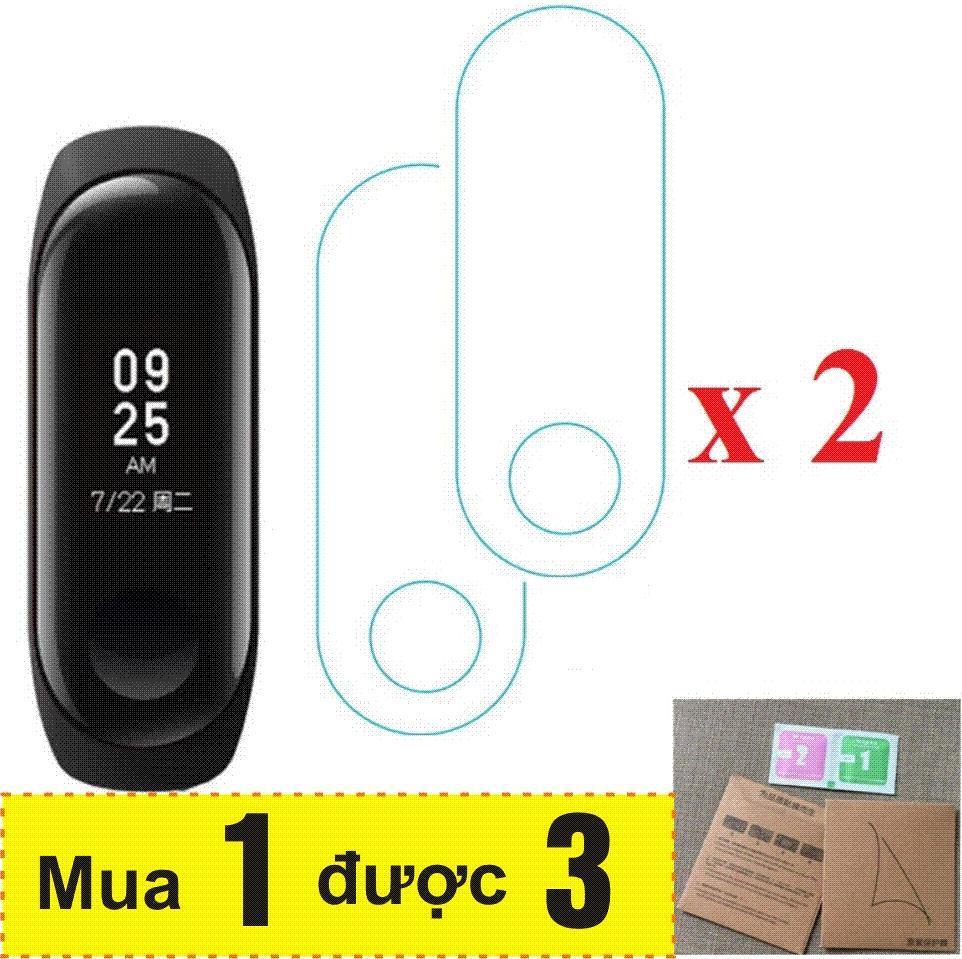 Hình ảnh Vòng đeo tay thông minh Mi Band 3, Miband3, Mi band3 Khang Nhung (Đen) + 2 Miếng dán màn hình