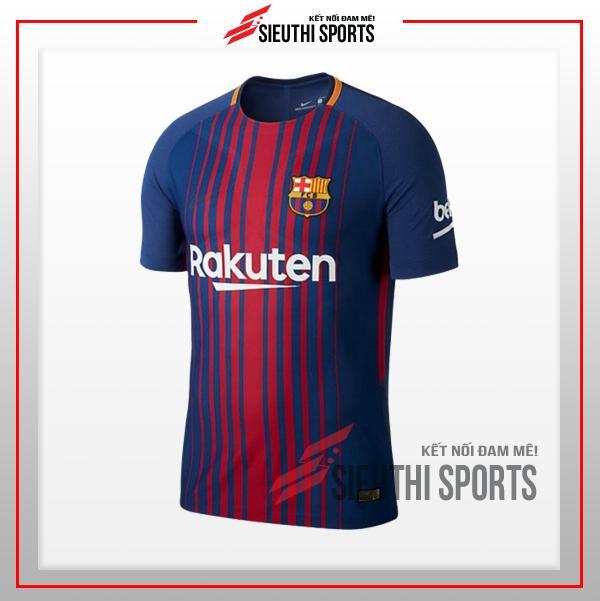 Hình ảnh Quần áo đá bóng trẻ em thun lạnh CLB Bacelona 2018