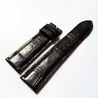 Dây đồng hồ da Cá sấu cao cấp Thái Lan (size 20mm) CSTL (màu đen) bán chạy