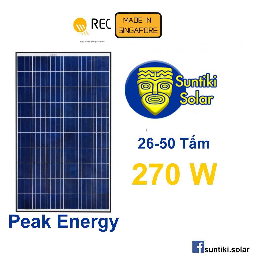Tấm pin năng lượng mặt trời REC (Solar Panel) 270W (26 - 50 tấm)