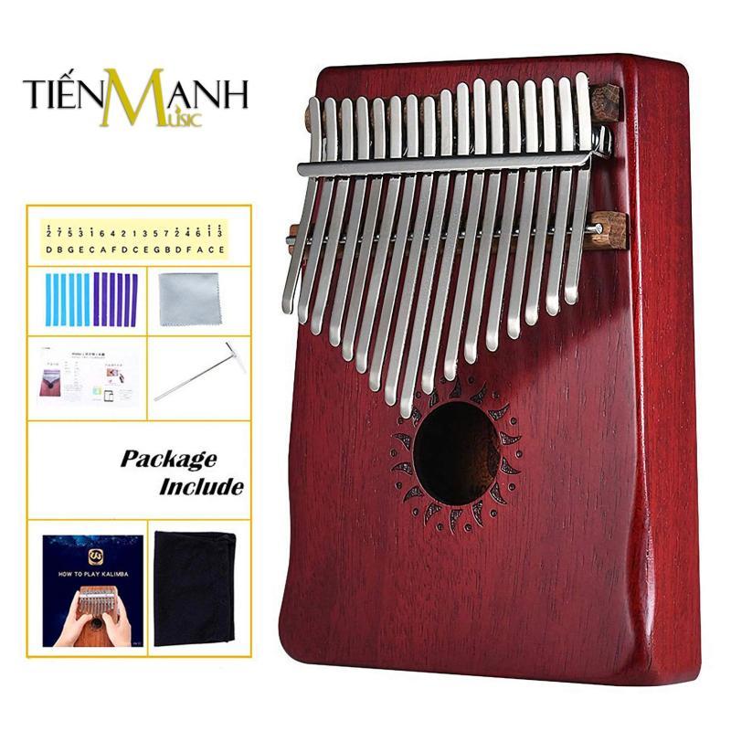 Đàn Kalimba Walter 17 Phím WK-17RD (Đỏ - Gỗ Mahogany - Mbira Thumb Finger Piano 17 Keys - Kèm Sticker dán note, Decal xanh đỏ, Búa chỉnh âm, Túi đựng, Khăn lau, Sách học, Móng gẩy Tiến Mạnh Music - Giúp cảm thụ âm nhạc tốt)
